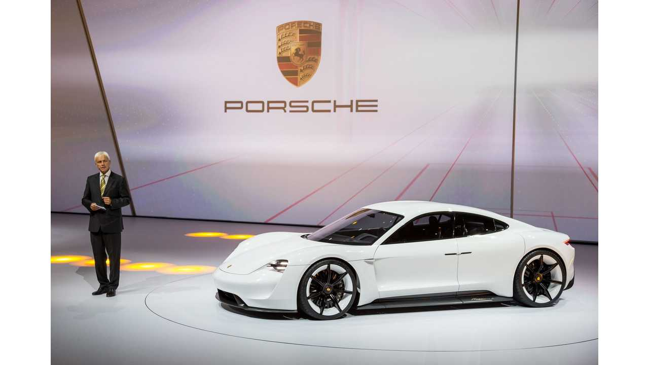 The Porsche Concept Study Mission E Shows Up As World Premiere At Iaa 2017