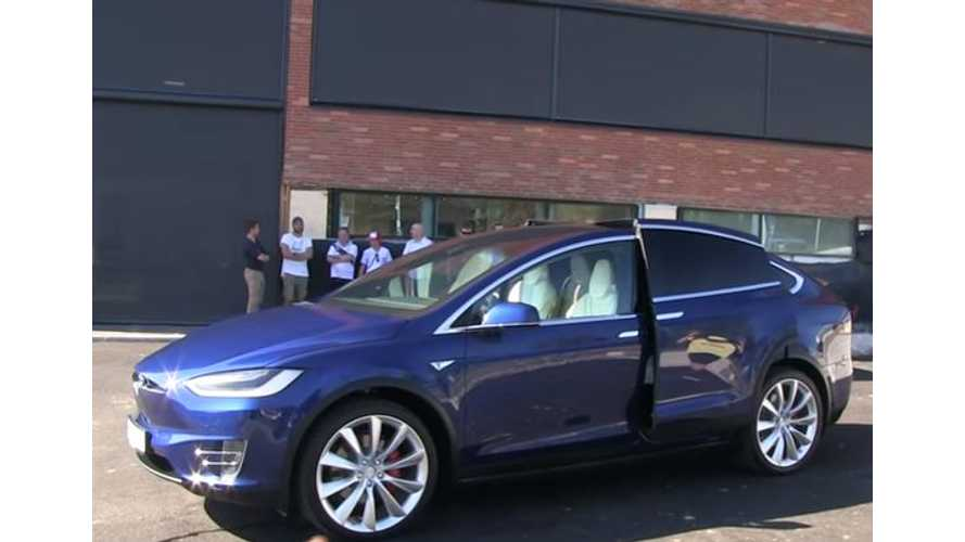 Bjorn Nyland Takes Delivery Of Tesla Model X P90DL, Tows Boat - Videos