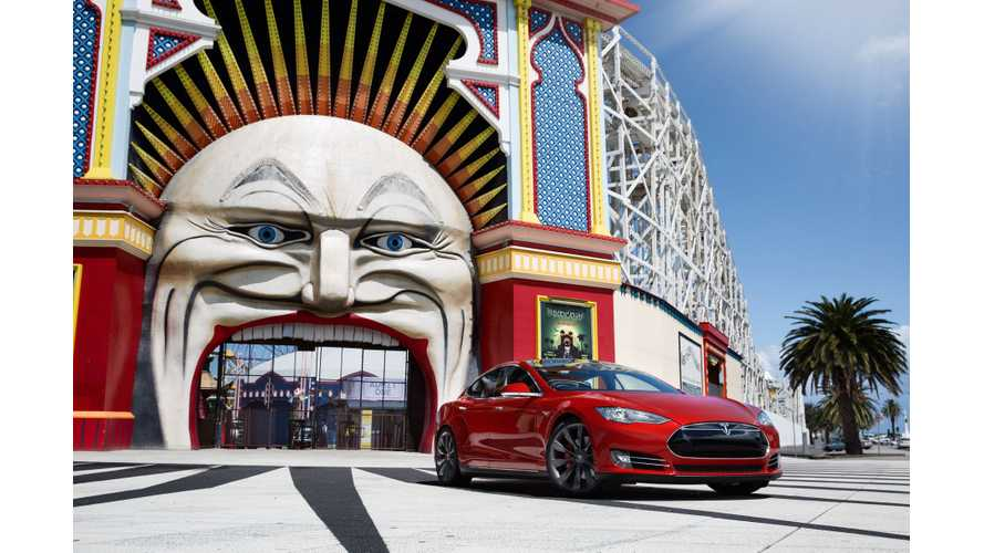 Tesla Model S Launches In Australia; First Australian Supercharger Comes Online