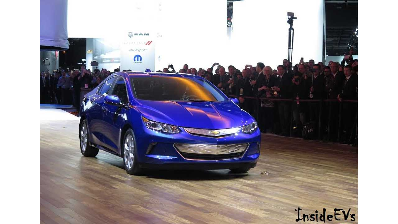 2016 Chevrolet Volt Heading Up To The Stage - Thankfully Utilizing Part Of Its 50 Miles Electric Range