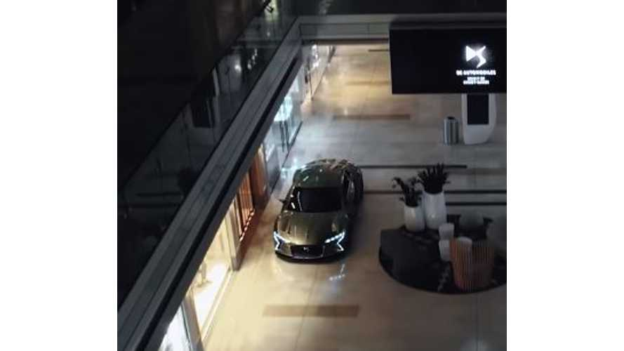 Watch The Upcoming DS E-Tense Drive Through A Shopping Mall - Video