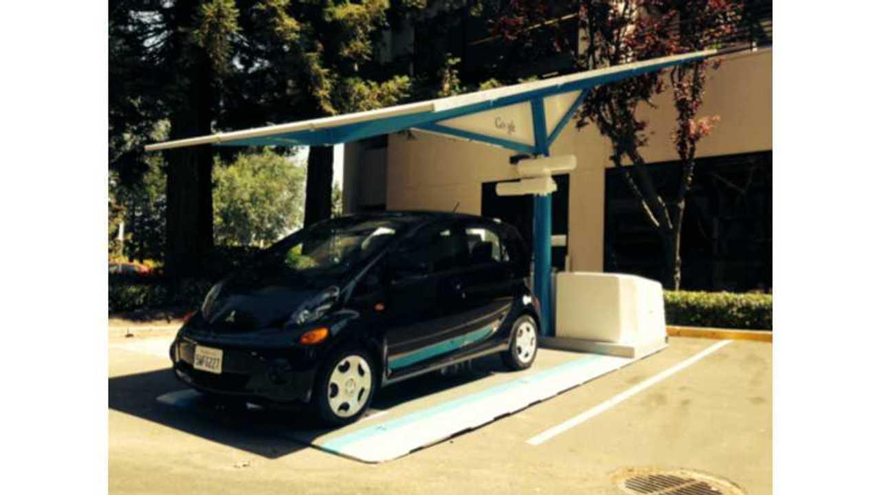 Google Gets Envision Solar EV ARC Charging Station