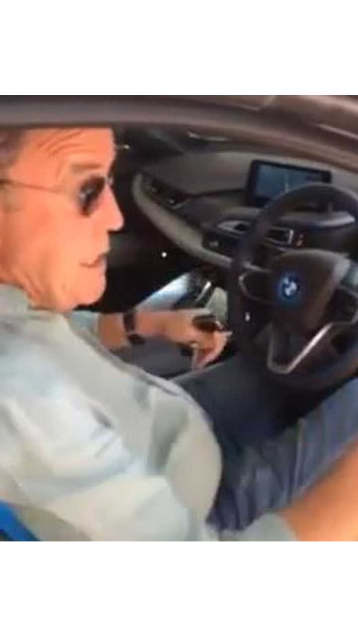 Top Gear's Jeremy Clarkson Spotted In BMW i8 - Video