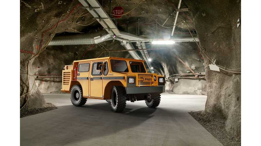 Electric Mining Vehicles Become Increasingly More Common