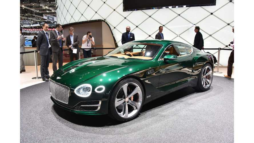 Bentley Discusses Future Electric Car Plans