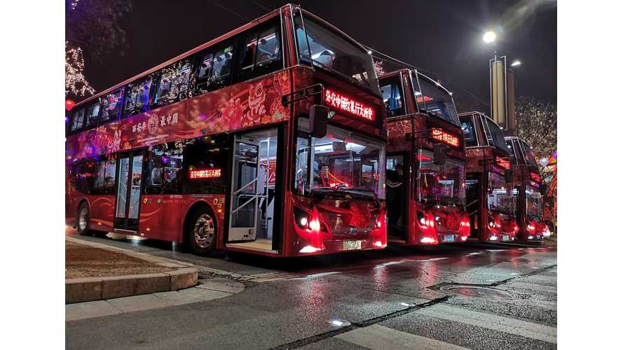 BYD Delivered World's Largest Electric Double-Decker Bus Fleet