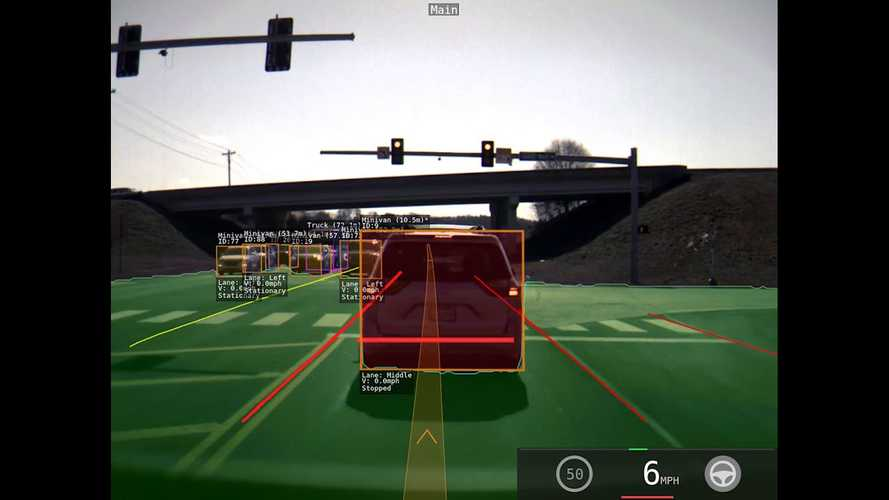 Check Out Crystal Clear View Of Tesla Autopilot Line Detection: Video