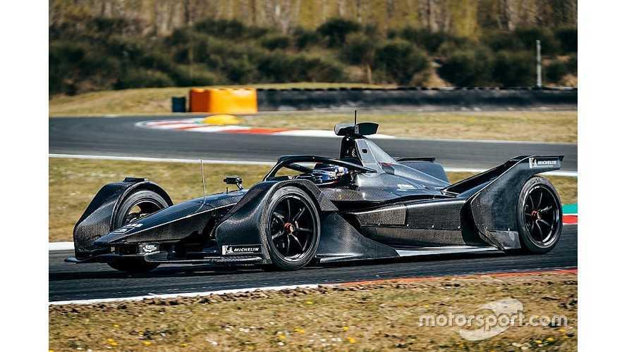 Mercedes Formula E Race Car Makes Its Track Debut