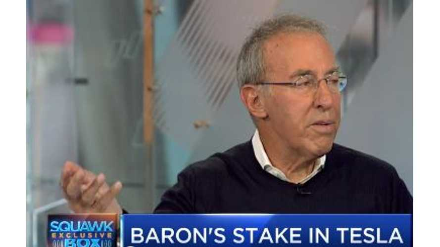Tesla Pushing Towards Becoming $1 Trillion Company, According To Investor Baron (Video Interview)