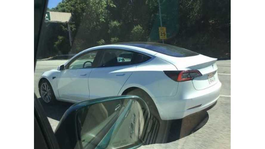 Tesla Model 3 With Glass Roof Spotted On Public Road