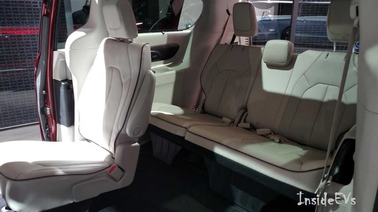 A Look In The Back Of The Pacifica! An EV That Seats 7 comfortably with cargo to spare? Say It Is So! (Click to Enlarge - InsideEVs/Tom Moloughney)