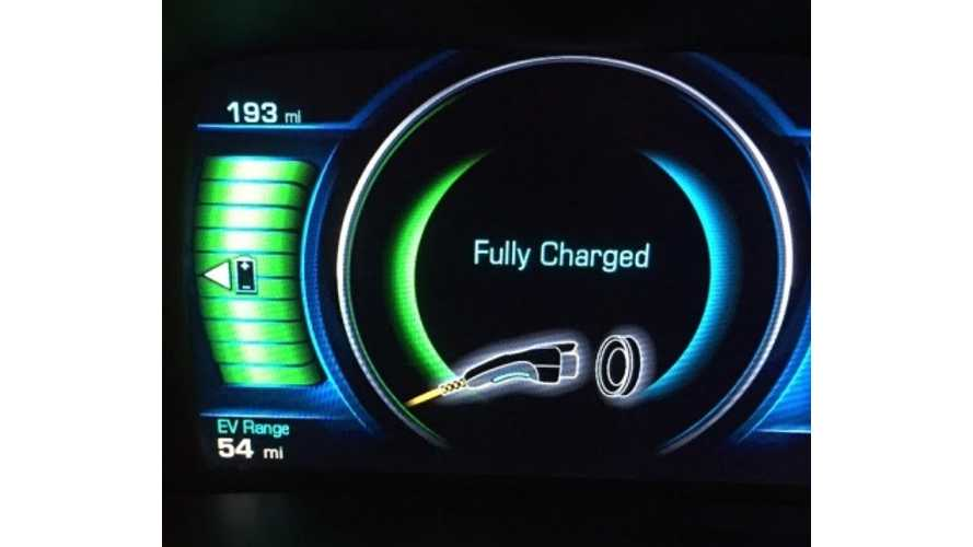 2016 Chevrolet Volt GOM Shows 54 Miles Of Electric Range