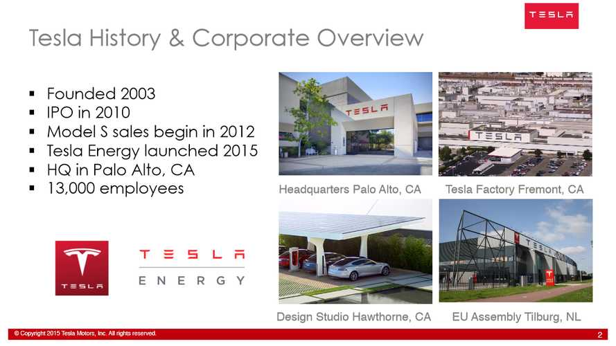 Tesla's Slide Presentation Highlights From The 2015 EIA Conference