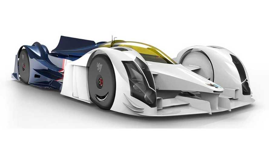 InMotion Renders Four Electric Motor, Range-Extended LeMans Racer