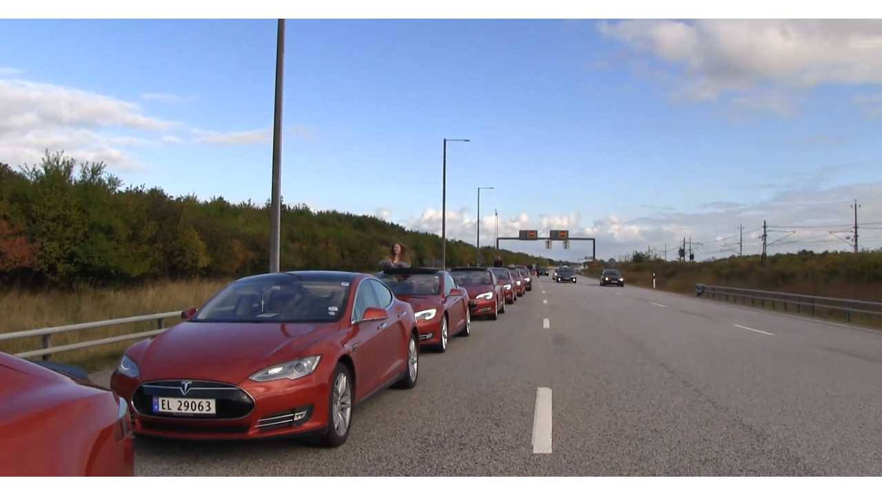 Tesla Model S - many red Teslas - Bjorn Nyland