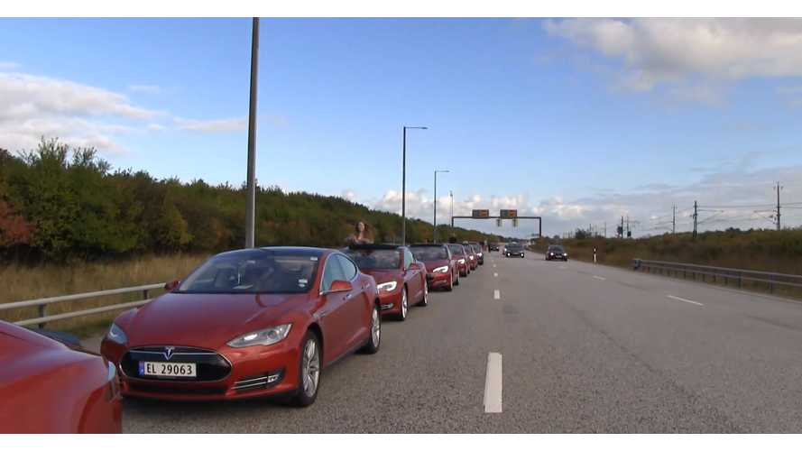 Bjorn Takes Tesla Model S On World Record Attempt - Video