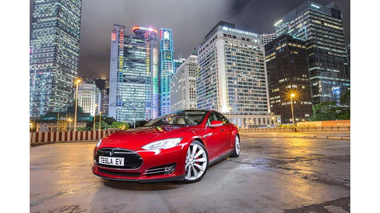 Right Hand Drive Tesla Model S Arrives In Hong Kong