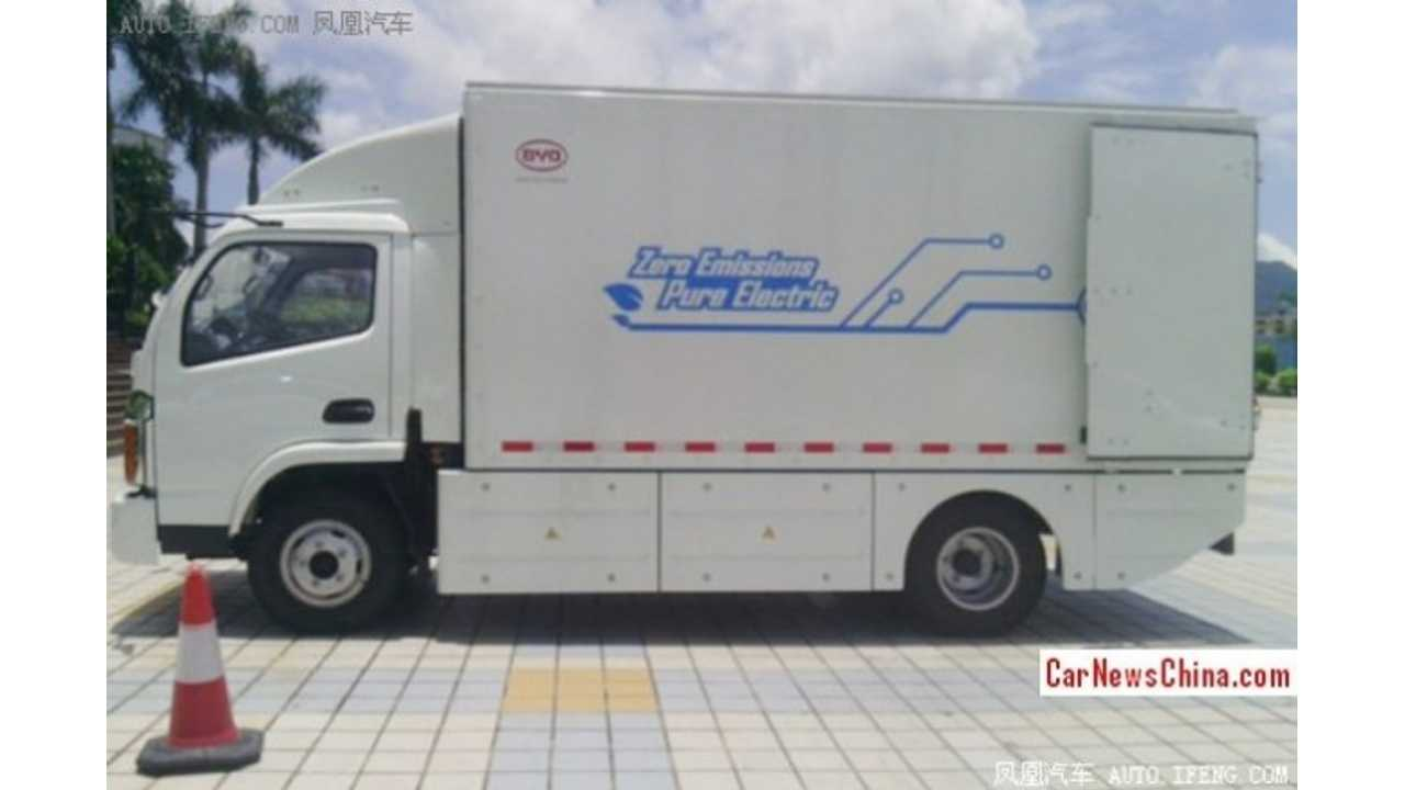 BYD T5 Electric Truck Again Spotted In China
