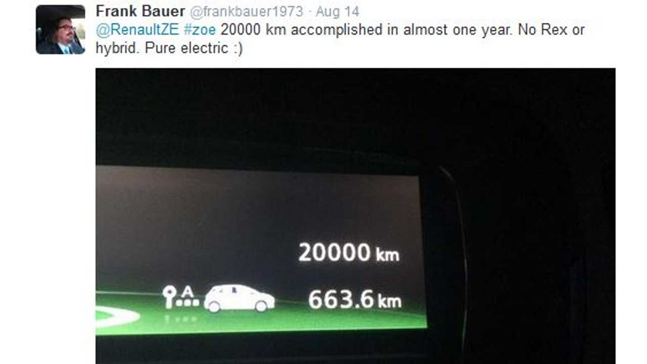 Renault Zoe Drives 12,000 Miles In Less Than One Year