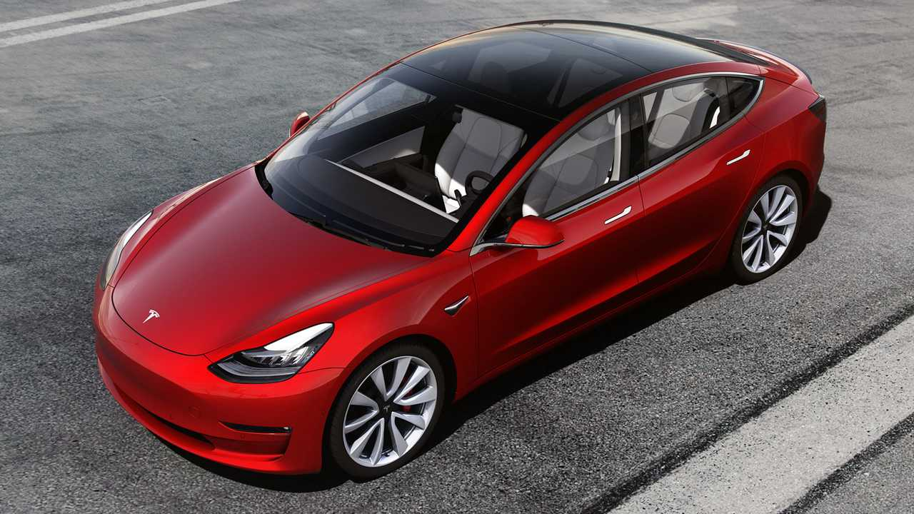 The performance version of the Model 3 has a 75-kWh battery pack.