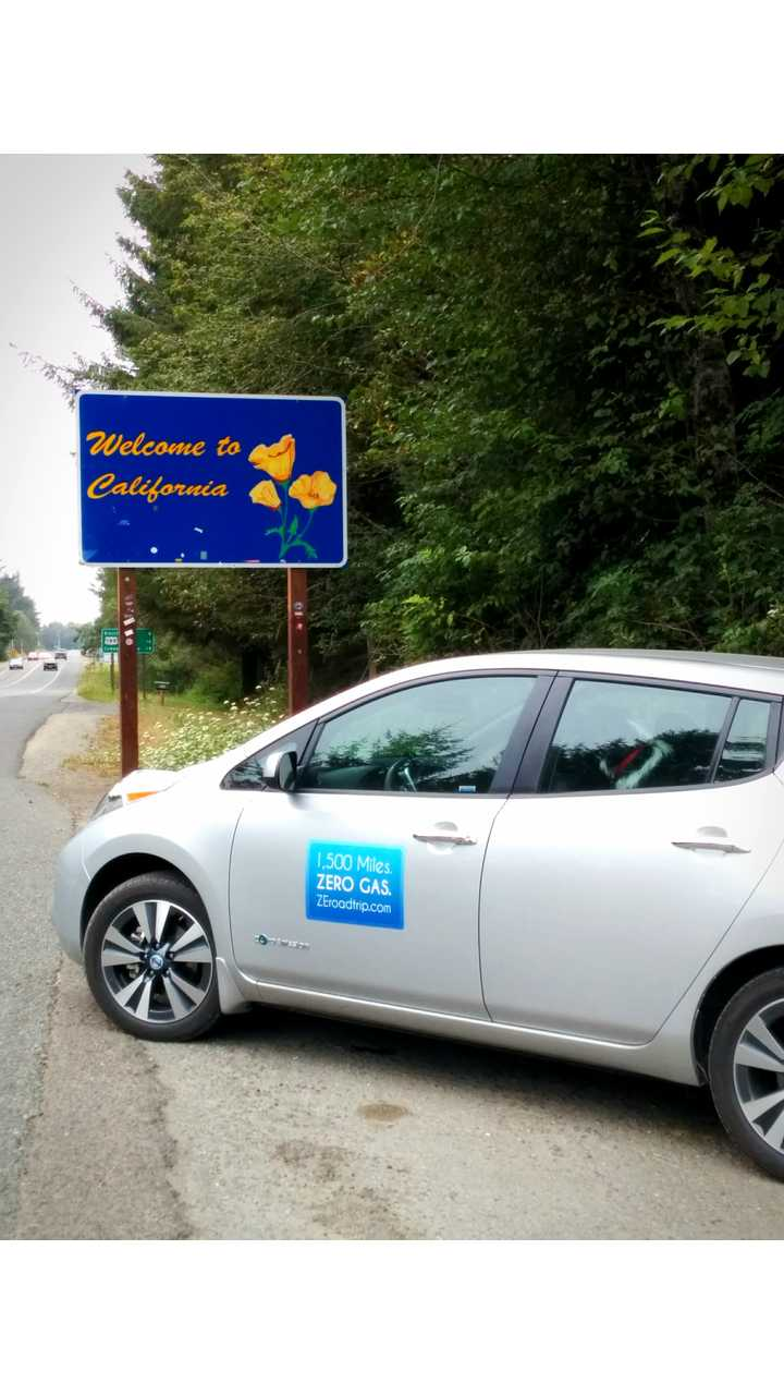 1,500-Mile Nissan LEAF Zero-Emission Road Trip – We Made It From Canada To California!
