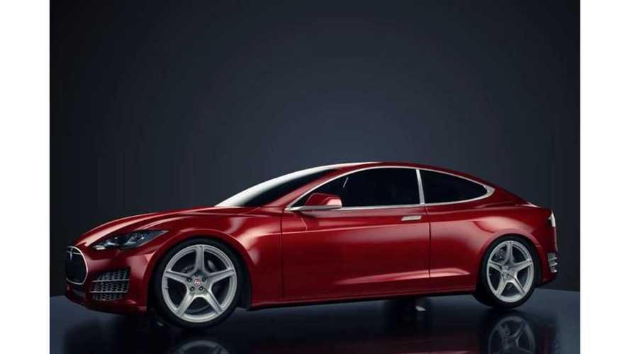 Tesla Model S Concept Coupe -  Images + Video