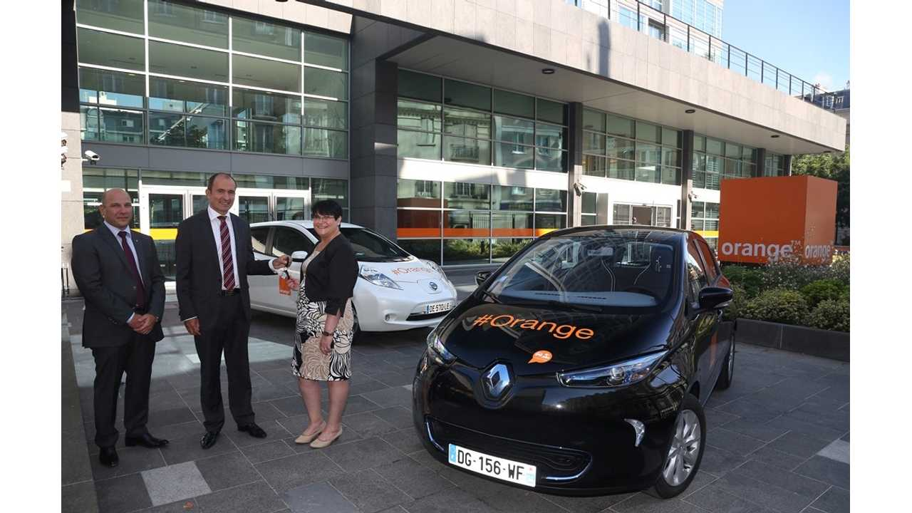 Orange To Buy 200 Electric Vehicles From Renault-Nissan For Car Sharing Program In France