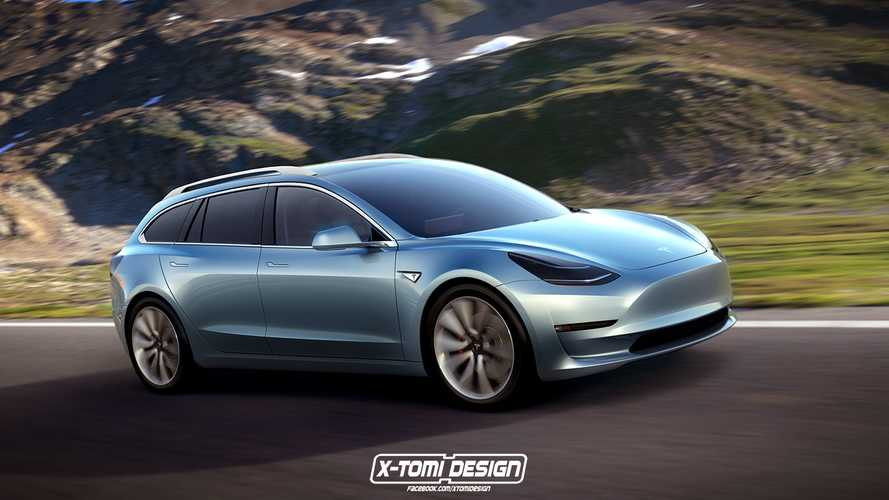 X-Tomi Design Renders Tesla Model 3 Coupe, Crosswagon & Sportwagon