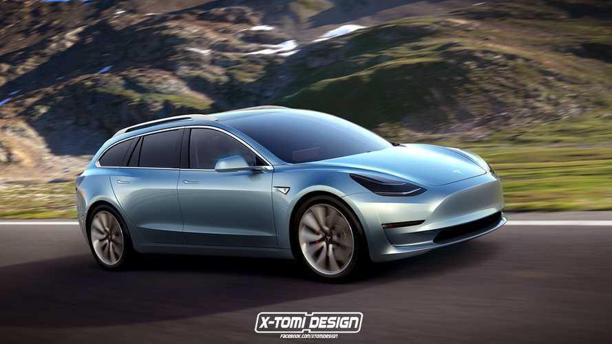 X-Tomi Design Renders Tesla Model 3 Coupe, Crosswagon & Sportwagon