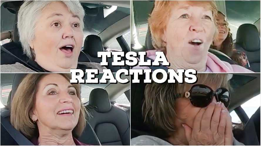Grandmas React To Tesla Model 3 Test Ride