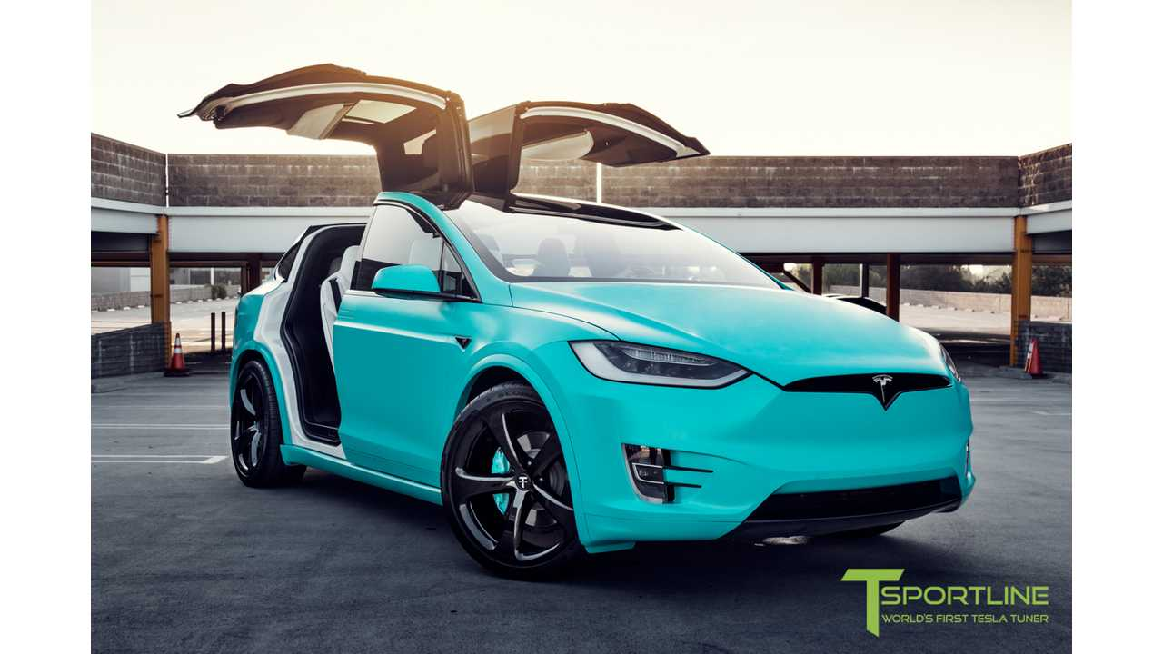Tiffany-Inspired Tesla Model X Up For Auction on eBay