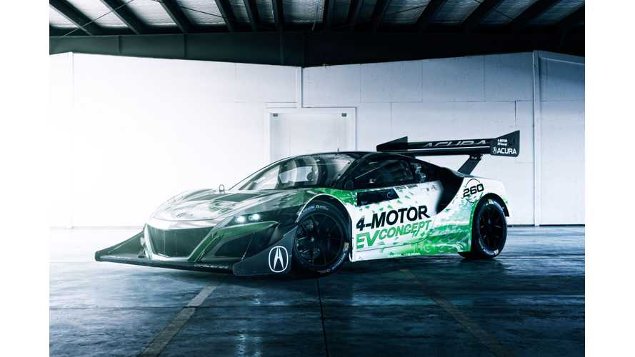 First Look At The All-Electric Acura NSX-Inspired EV Concept Ahead Of Pikes Peak