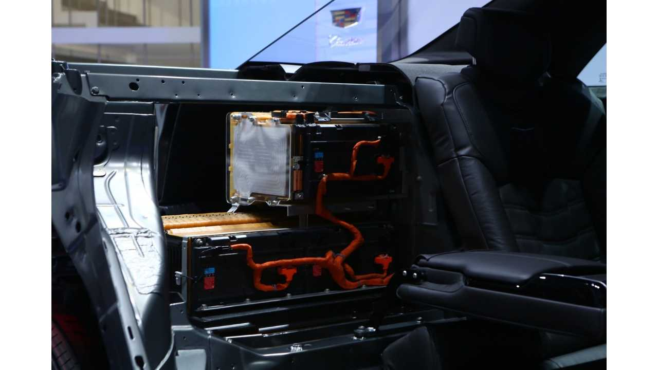 A look at the 18.4 kWh battery's location in the trunk