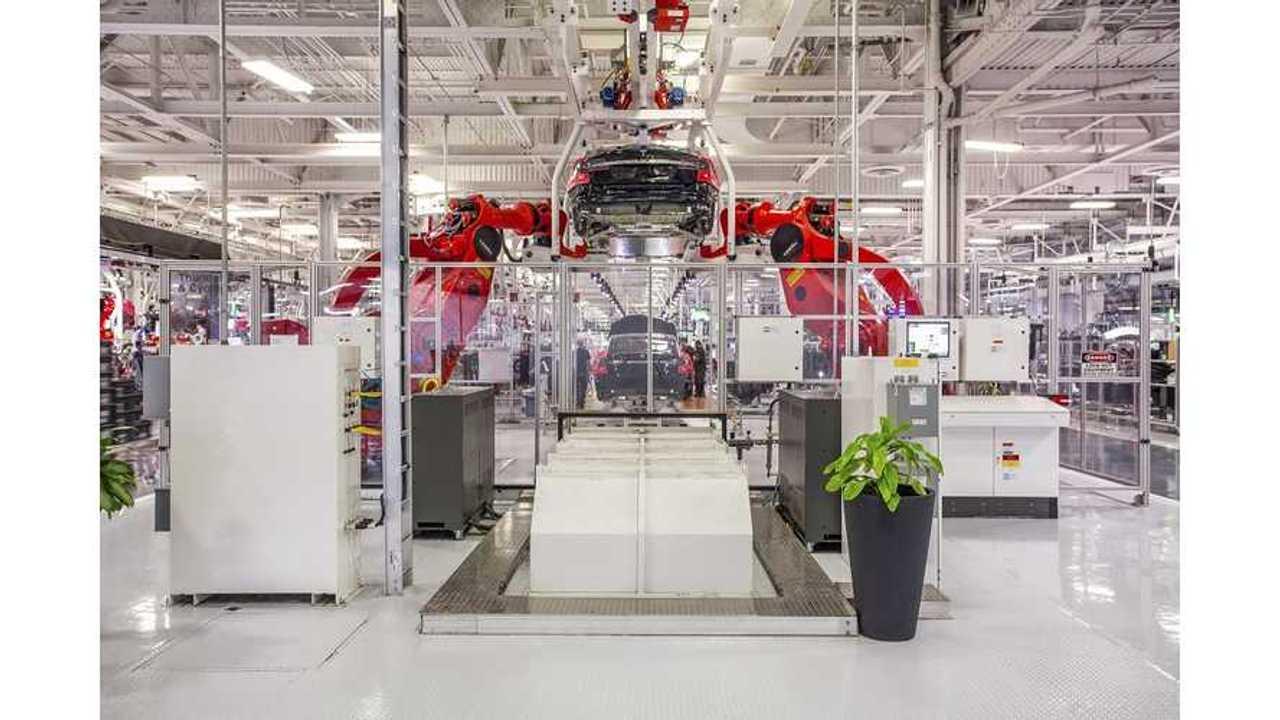 Tesla fremont assembly Model s 4