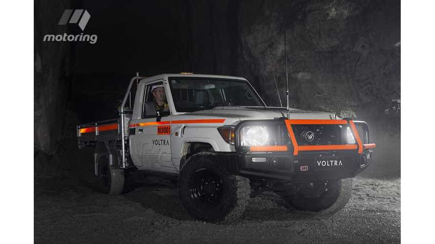 Pure Electric Toyota Land Cruiser Goes Underground Mining