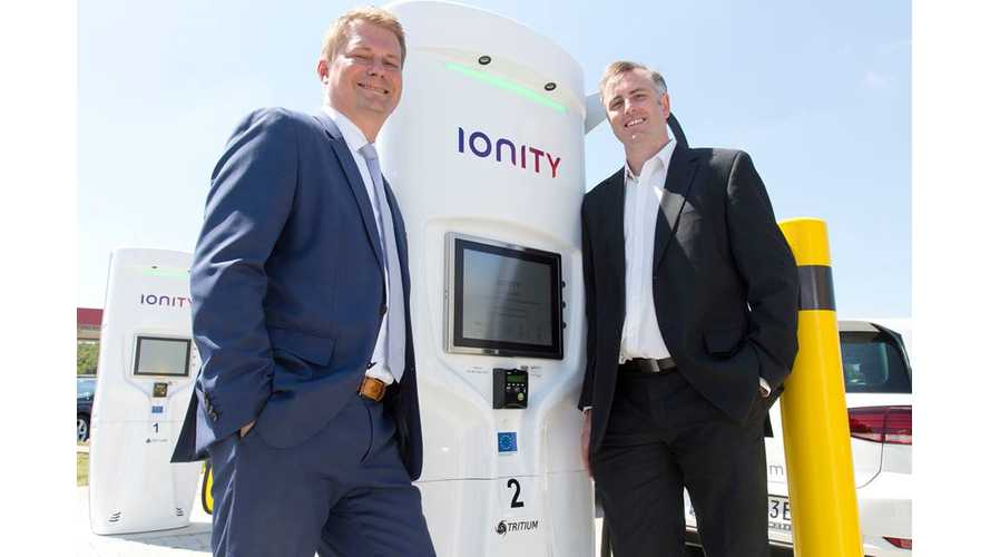 IONITY Selects Tritium For 100 Ultra-Fast Charging Sites Across Europe