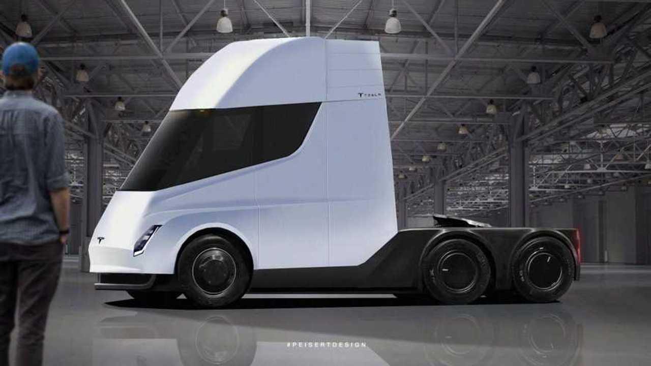 Tesla Semi Rendered Based Off Of Recent Sighting