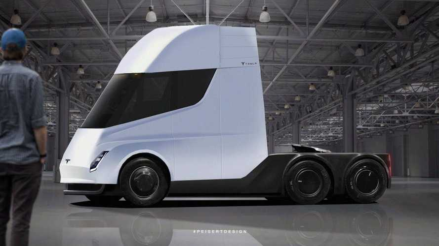 Tesla Semi Rendered Based Off Of Recent Sighting