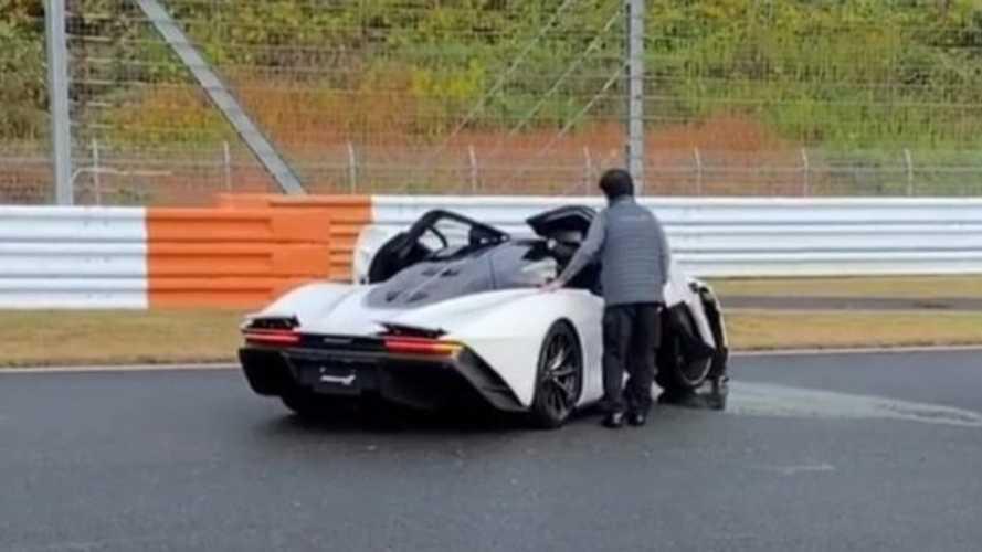 Sikerült összetörni egy McLaren Speedtailt Japánban