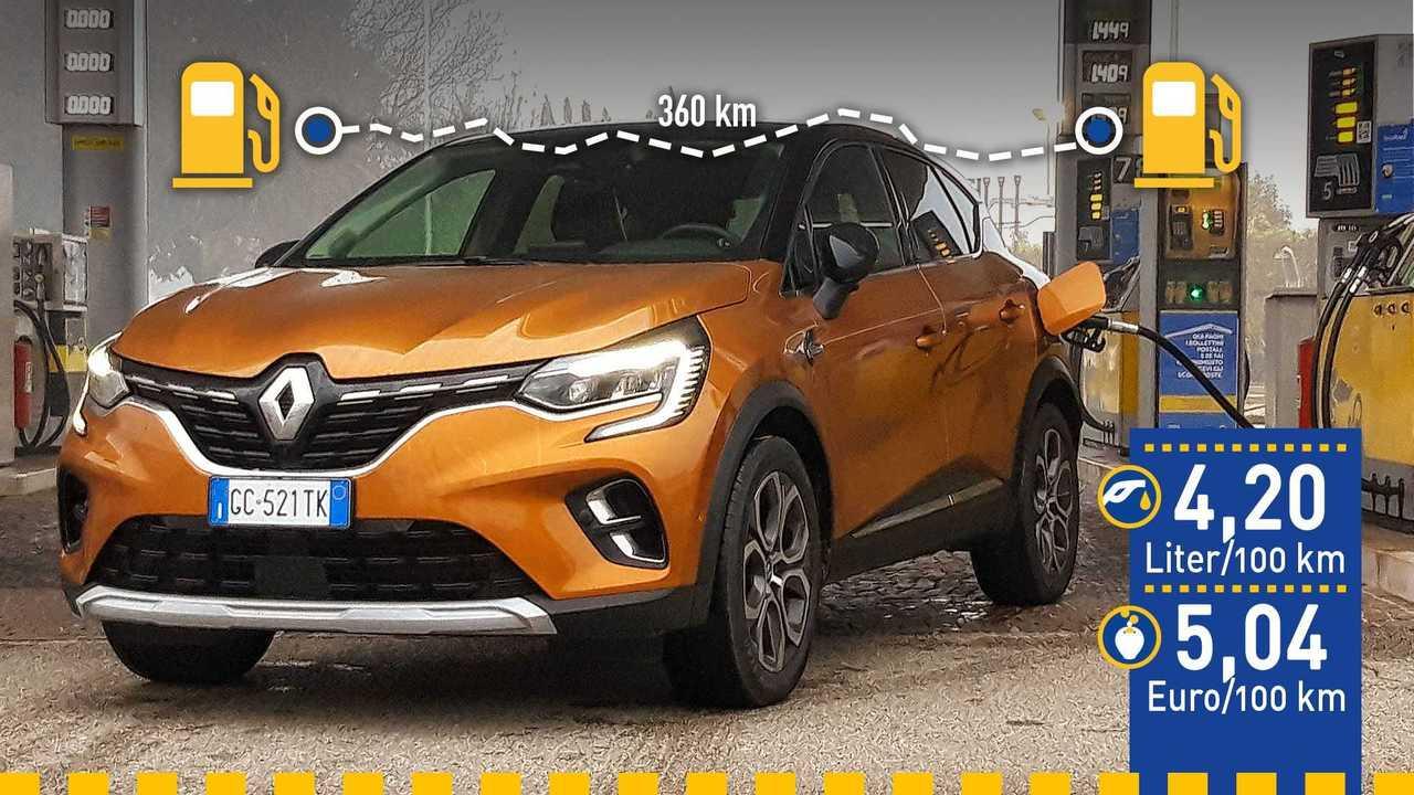 Renault Captur E-Tech (2020) im Verbrauchstest