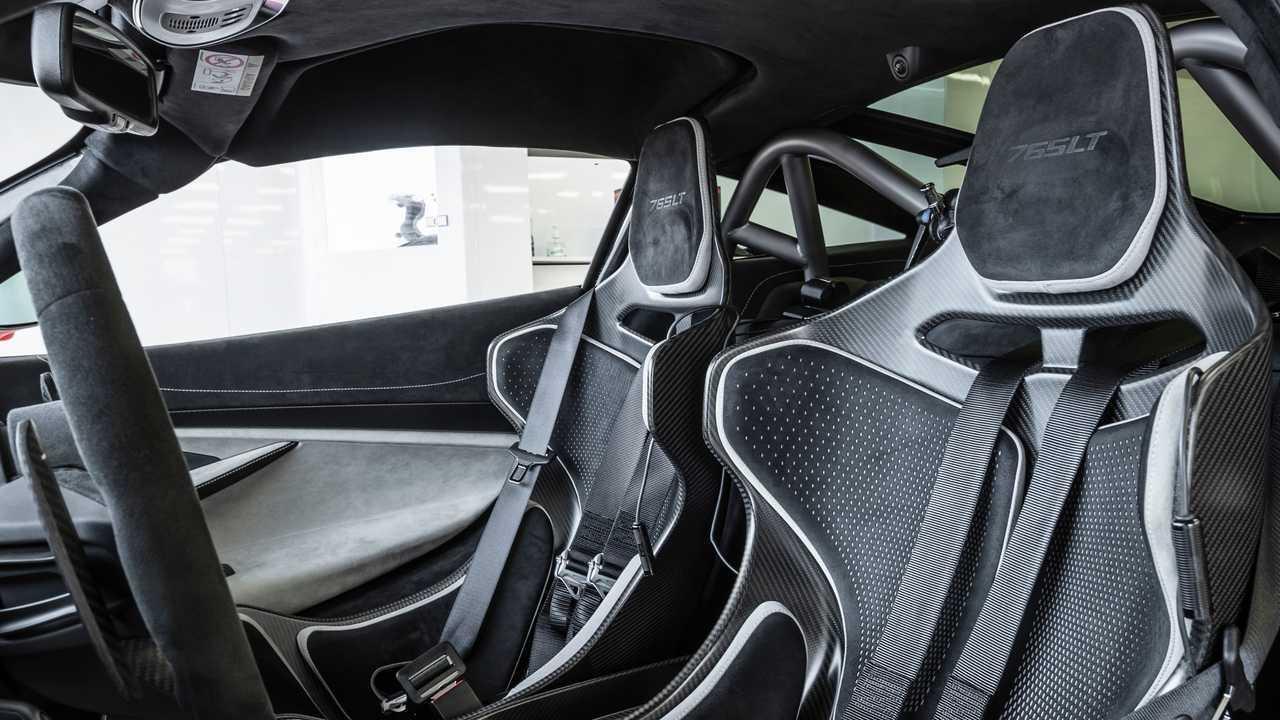 2021 McLaren 765LT seat headrests