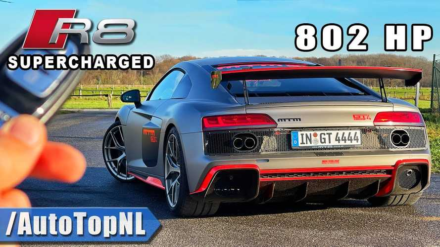 Audi R8 Supercharged To 802 HP Goes For An Autobahn Speed Run