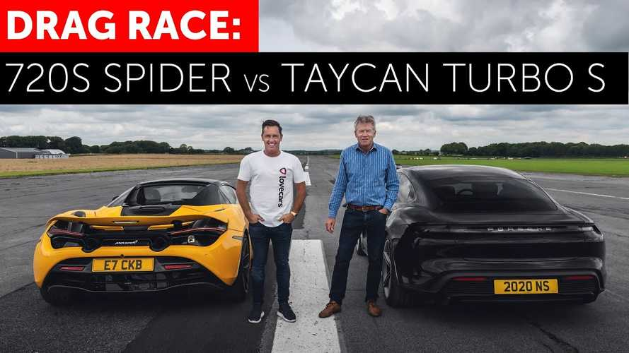 Porsche Taycan Turbo S vs McLaren 720S drag race begs for a rematch