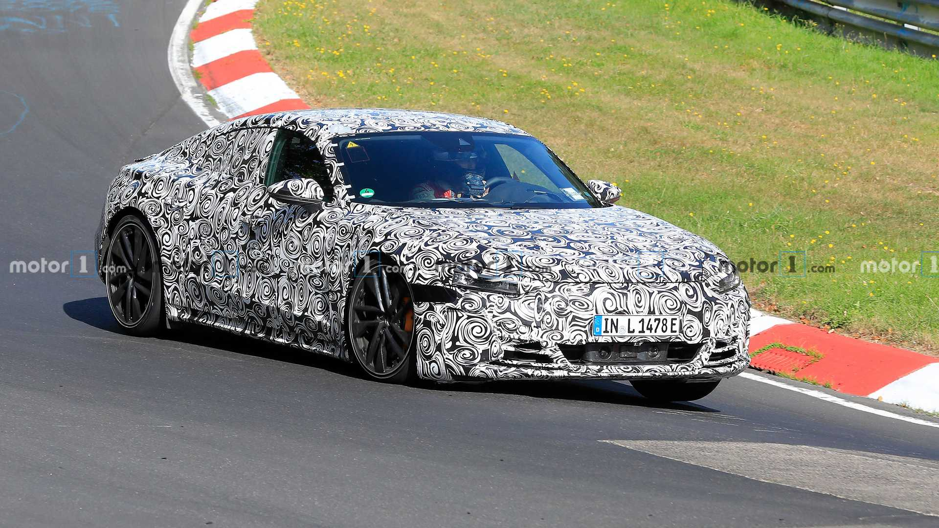 2021 audi e-tron gt spied looking glued to the nurburgring