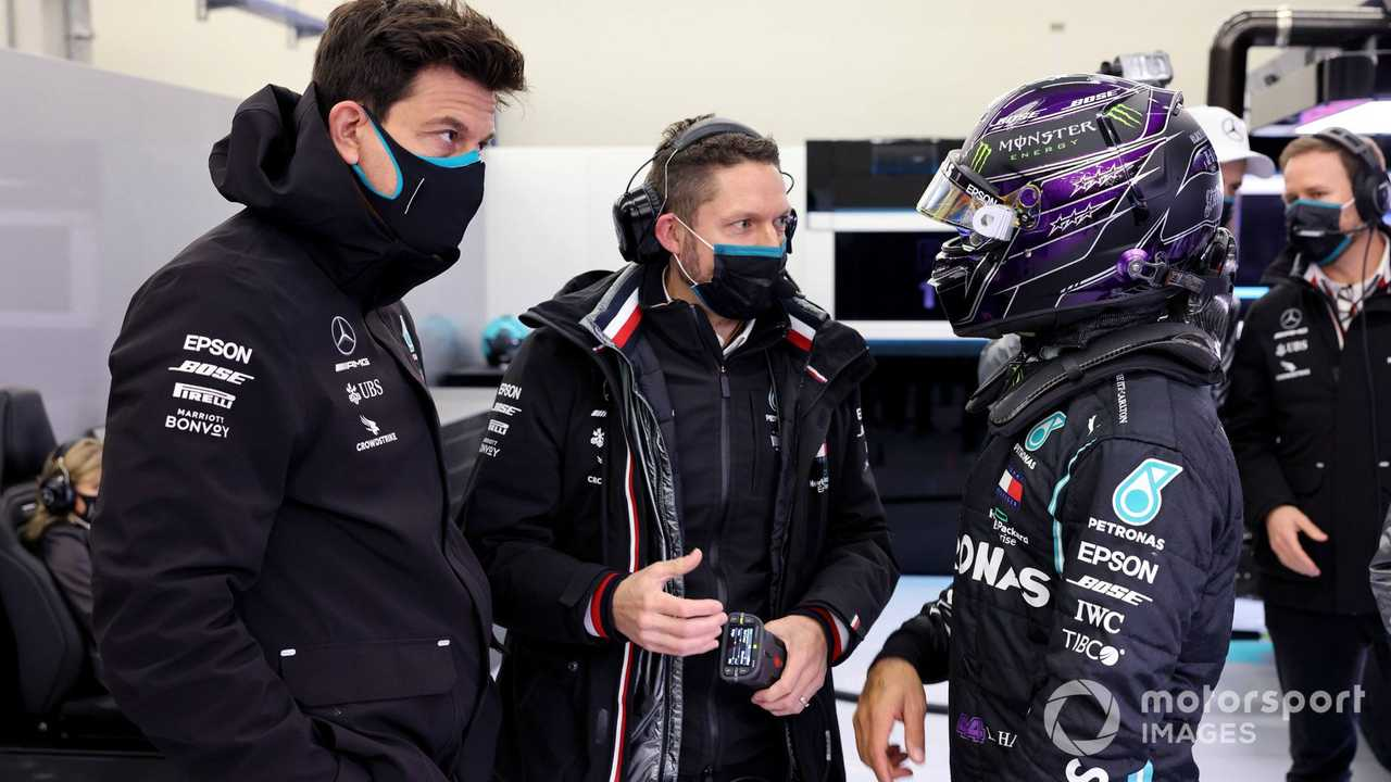 Toto Wolff and Lewis Hamilton at Turkish GP 2020