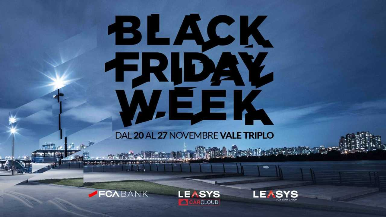 Copertina FCA Black Friday Week