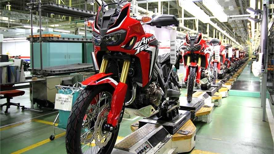 Take A Look At The Honda Africa Twin Factory Assembly Line In Action