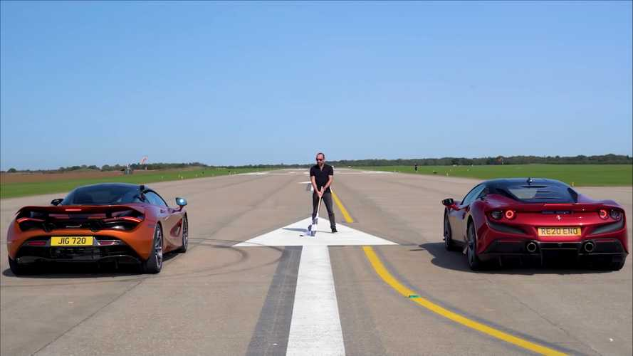 Ferrari F8 Tributo Drag Races McLaren 720S In Supercar Battle