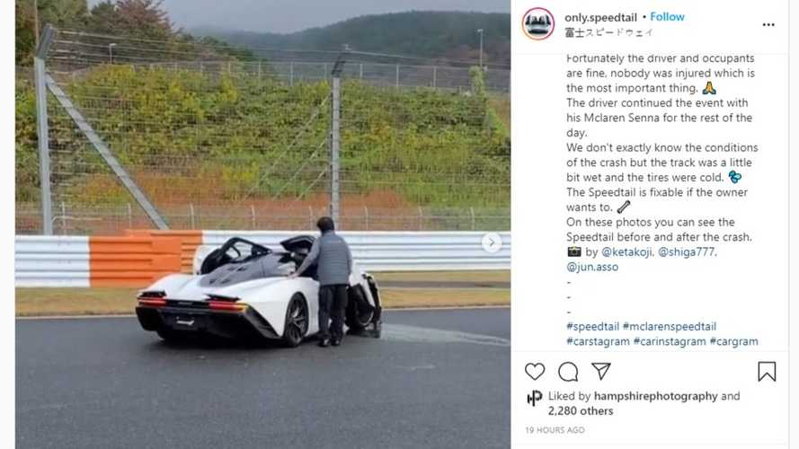 Ultraseltener McLaren Speedtail crasht in Japan auf dem Fuji Speedway