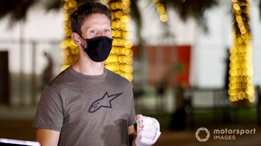 Romain Grosjean makes emotional return to Bahrain F1 paddock
